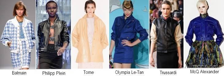 Фото женских курток на пуговицах из коллекций 2017 года Весна-Лето
