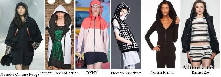 Женские куртки с капюшоном - весна 2017
