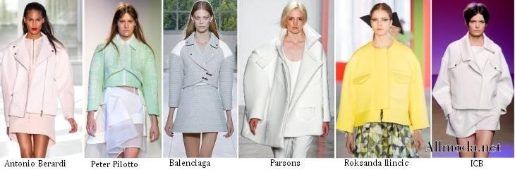 Куртки с объемной линией плеч - Весна 2017