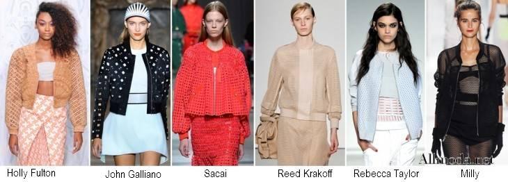 Женские модные куртки из сетки и с перфорацией