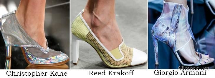 Женская обувь на весну 2017 из сетчатого материала