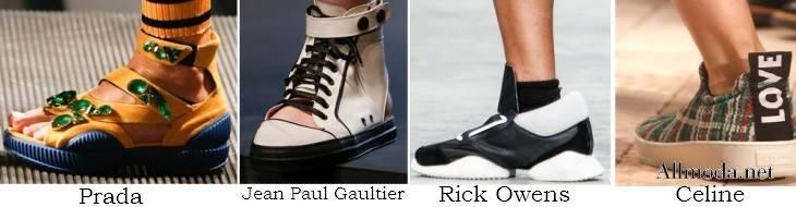 Спортивный стиль в обуви на весну 2017 года