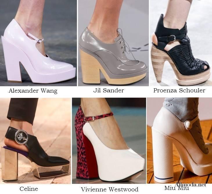 Обувь на платформе и массивном каблуке - весна 2017