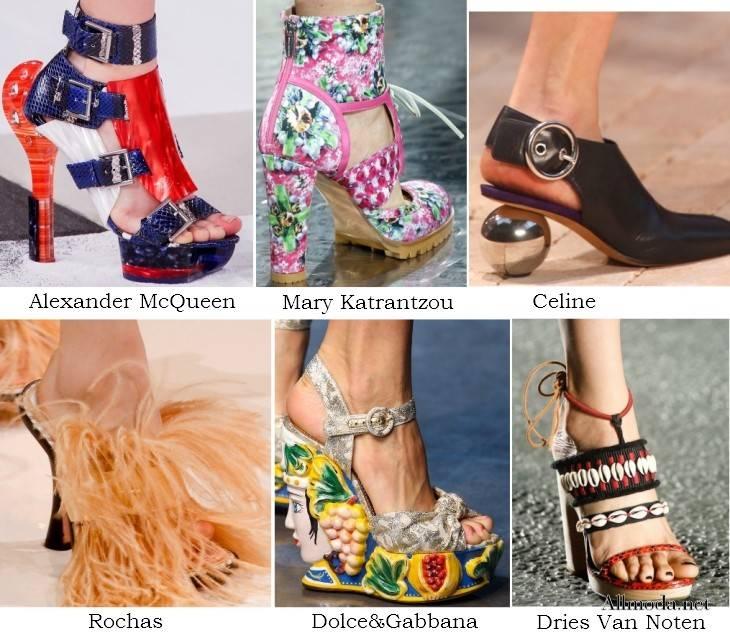Необычный дизайн женской обуви из весенне-летних коллекций 2017 года