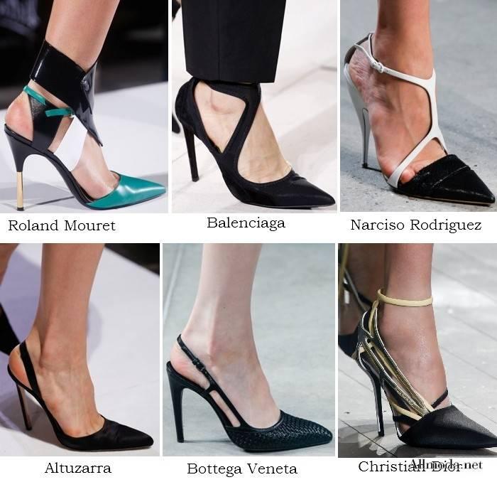 Обувь с острым носком в моде весной 2017