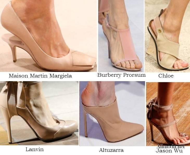 Женская обувь телесного цвета - весна лето 2017