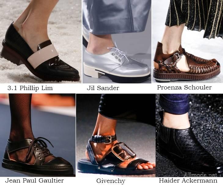 Женская обувь на весну 2017 в мужском стиле