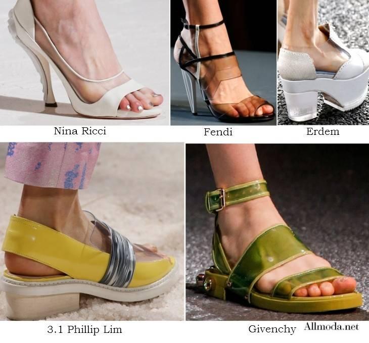 Женские туфли с прозрачными вставками - весна лето 2017