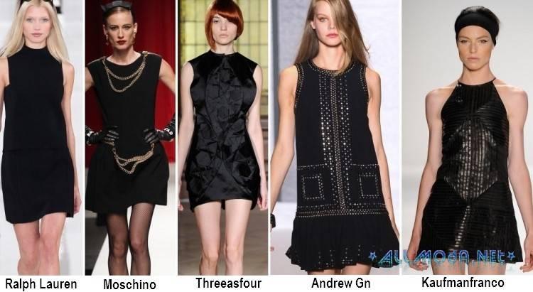 Весенние мини платья черного цвета 2017 года