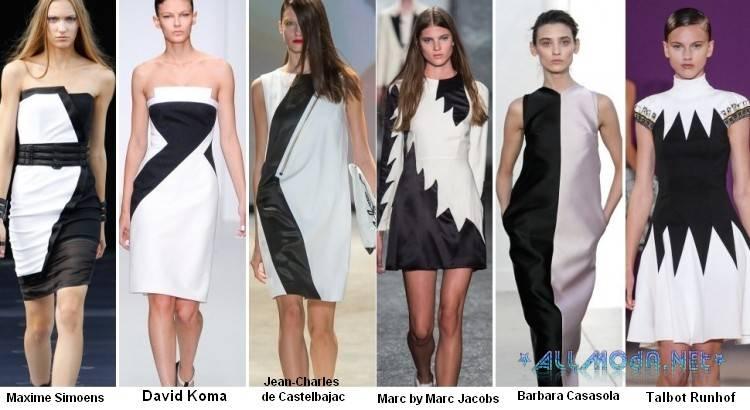 Чёрно-белые платья 2014