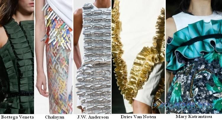 """Текстура """"Оригами"""" в моде весной и летом 2017 года"""