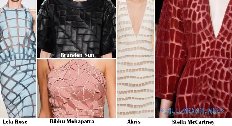 Ткань фрагментами - модный тренд весны 2017