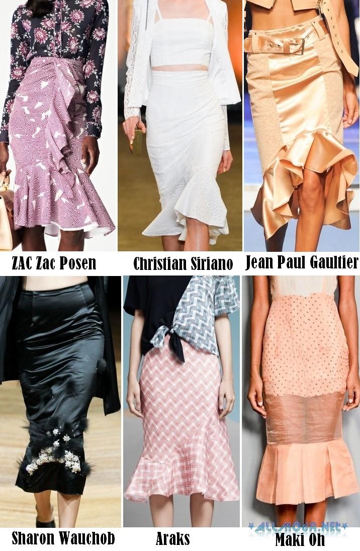 Весной 2017 года в моде юбки годе