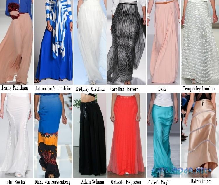Модные юбки макси 2017