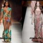 Модные платья с цветочным принтом весна-лето 2017
