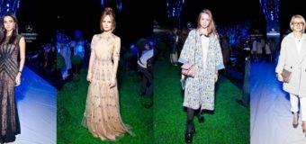 Наряды российских звезд на Mercedes-Benz Fashion Week Russia