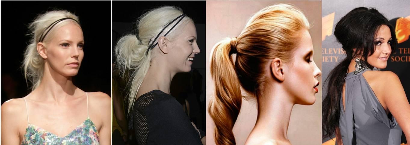 Как на короткие волосы сделать хвост на заколках