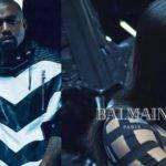 Ким Кардашьян и Канье Уэст в рекламе Balmain весна-лето 2017
