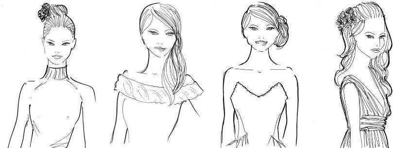 Причёски под разрезы платьев