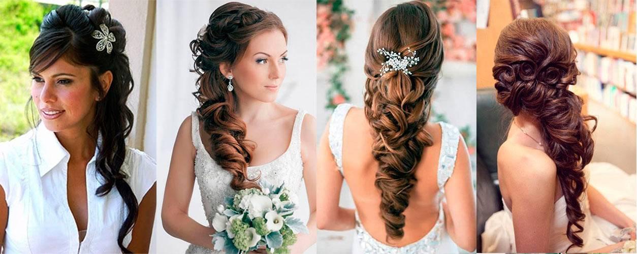 Прическа на средние волосы на свадьбу к сестре