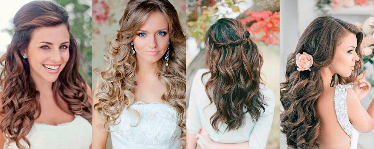 Прически для волос на свадьбу для гостей на