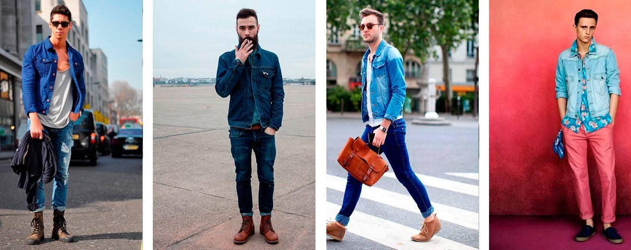 С чем одеть джинсовку мужчине